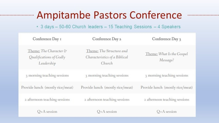 Ampitambe Pastors Conference